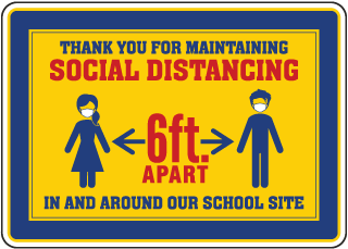 Thank You For Social Distancing School Site Sign