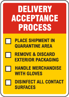 Delivery Acceptance Process Sign