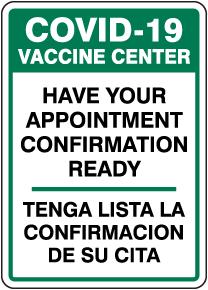 Bilingual COVID-19 Vaccine Center Sign