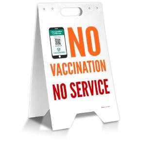 No Vaccination No Service Floor Stand