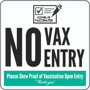 No Vax No Entry Floor Sign