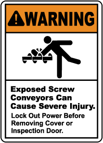 Exposed Screw Conveyors Sign