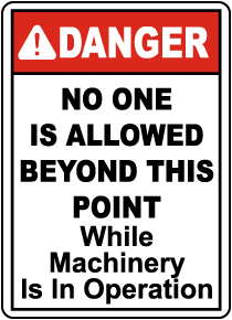 No One Is Allowed Beyond This Sign
