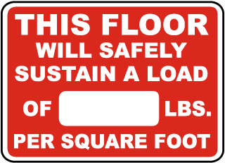 This Floor Will Safety Sustain Sign