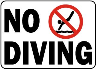 Idaho No Diving Sign