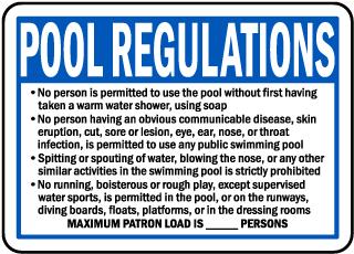 Nebraska Pool Regulations Sign