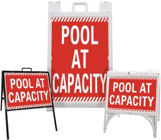 Pool At Capacity Sandwich Board