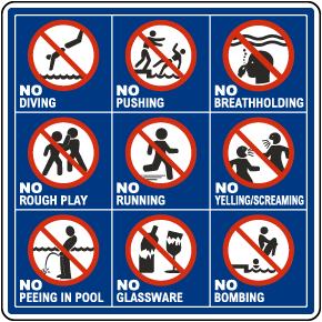 Pool Rules Symbols Sign