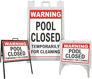 Warning Pool Closed Sandwich Board