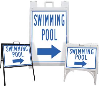 Swimming Pool Right Arrow Sandwich Board