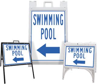 Swimming Pool Left Arrow Sandwich Board