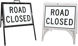 Road Closed Sandwich Board Sign