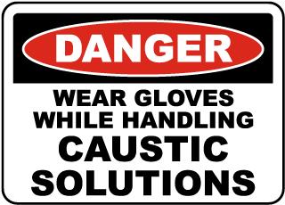 Wear Gloves While Handling Sign