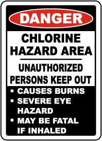 Danger Chlorine Hazard Area Sign