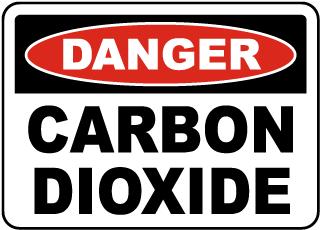 Danger Carbon Dioxide Sign