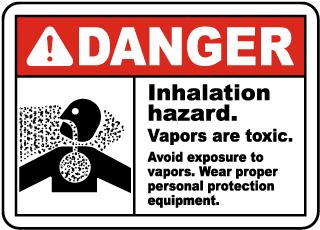 Inhalation Hazard Vapors Toxic Sign
