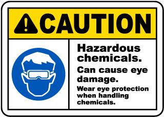 Caution Hazardous Chemicals Sign