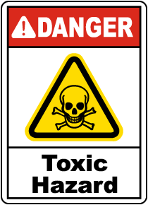 Danger Toxic Hazard Sign
