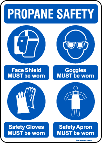 Propane Safety Personal Protection Sign