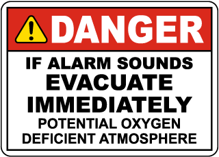 Danger Evacuate if Alarm Sounds Signs