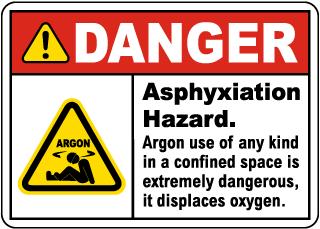 Danger Asphyxiation Hazard Sign