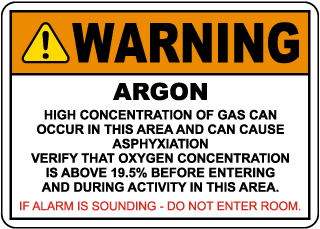 Warning Argon Sign