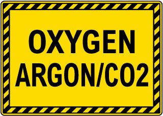 Oxygen Argon/Co2 Sign