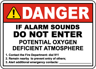 Danger Do Not Enter If Alarm Sounds Sign