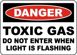 Danger Toxic Gas Do Not Enter Sign