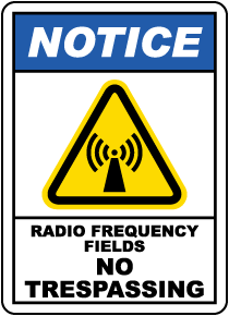 Radio Frequency Fields Sign