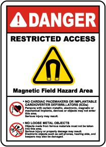 Magnetic Field Hazard Area Sign