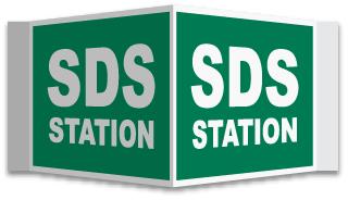 3-Way SDS Station Sign