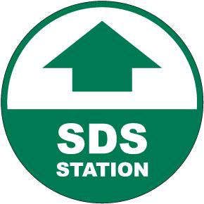 SDS Station Floor Sign