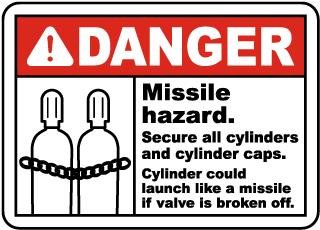 Danger Missile Hazard Sign