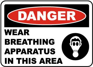 Wear Breathing Apparatus Sign