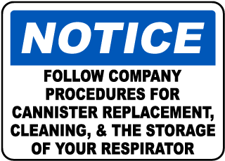 Follow Company Procedures Sign