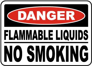 Flammable Liquids No Smoking Sign