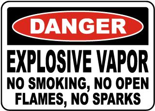 Explosive Vapor No Smoking Sign