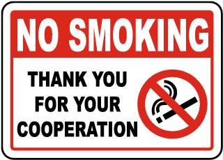 Thank You For Your Cooperation Sign