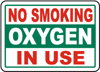 No Smoking Oxygen In Use Sign
