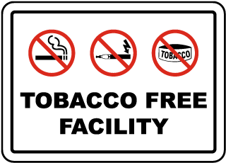 Tobacco Free Facility Sign