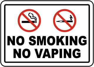 No Smoking No Vaping Label