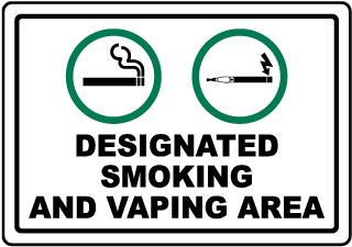 Designated Smoking and Vaping Area Sign