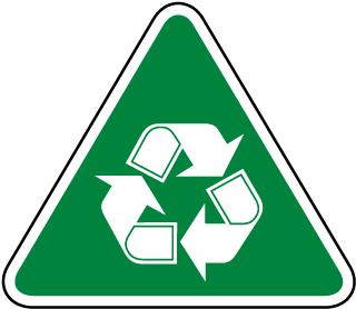 Recycle Symbol Label