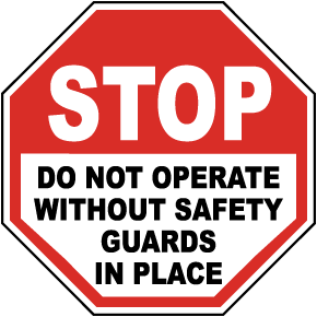 Stop Do Not Operate Without Label