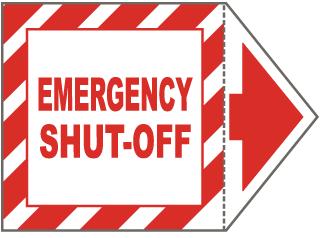 Emergency Shut-Off Arrow Label