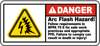 Follow Requirements For NFPA 70E Label