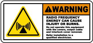Radio Frequency Energy Hazard Label