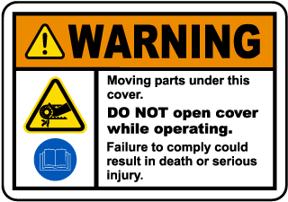 Moving Parts Under Cover Label