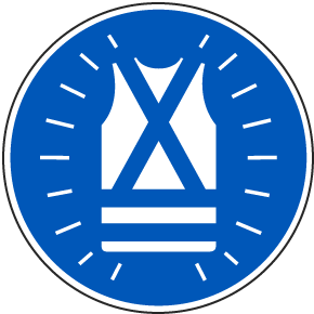 Wear High Visibility Clothing Label